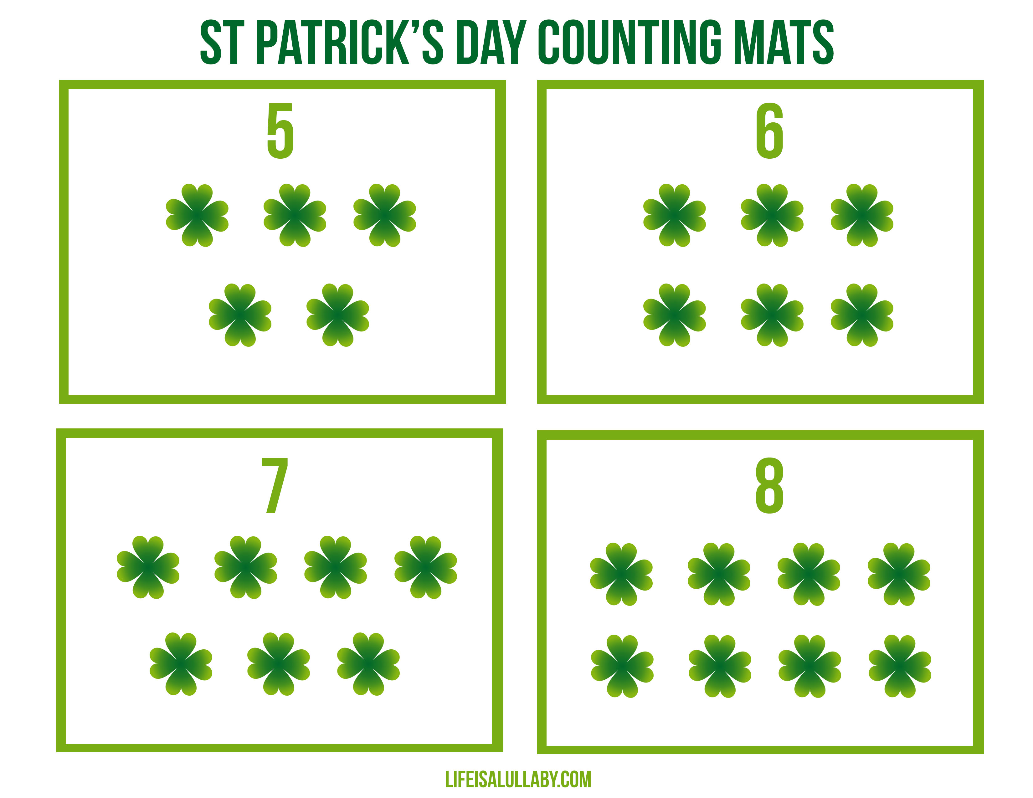 st patrick u0027s day counting cards the best ideas for kids